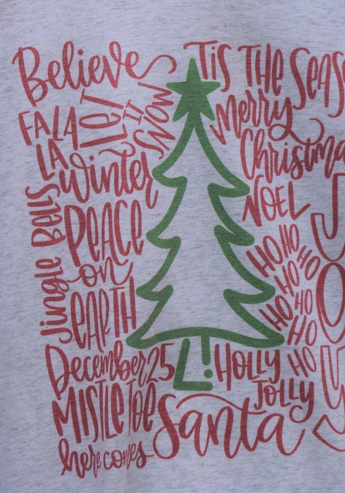 Christmas Words Holiday Raglan Tee