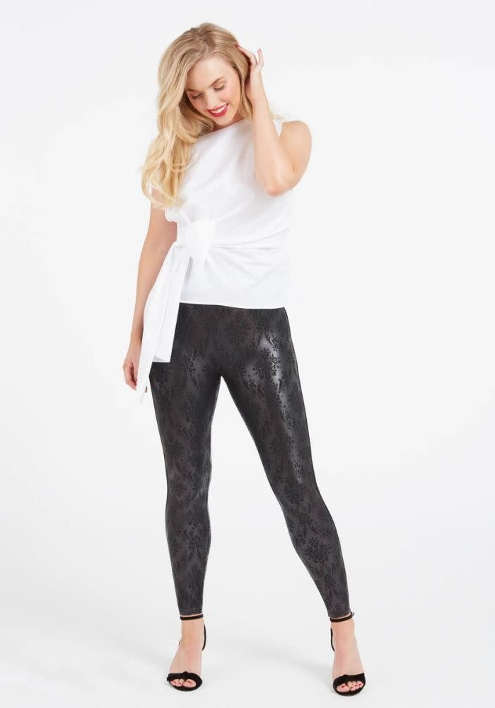 Faux Leather Brocade Spanx