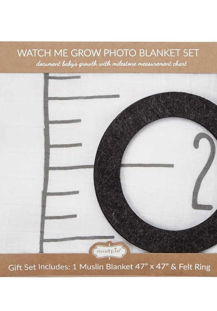 Watch Me Grow Baby Photo Blanket