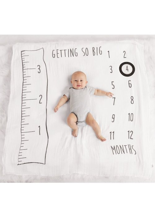 Mudpie Watch Me Grow Baby Photo Blanket