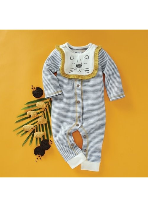 Mudpie Lion Bib and Sleeper Set