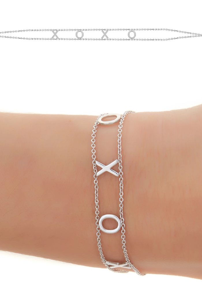 XOXO Gold Plated Message Bracelet