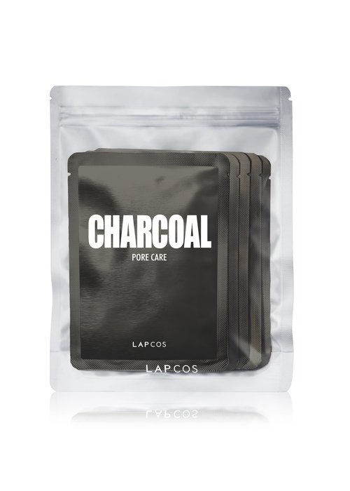 LAPCOS 5-Pack Daily Skin Mask Charcoal Pore Care