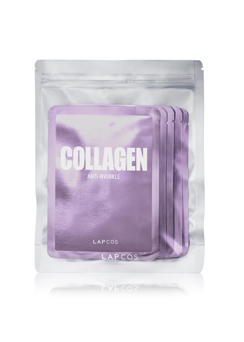 LAPCOS 5-Pack Daily Skin Mask Collagen Anti-Wrinkle