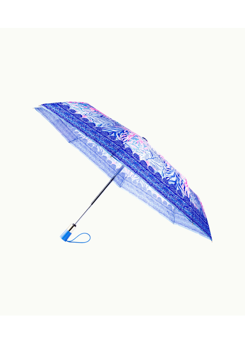 Lilly Pulitzer Kaleidoscope Coral Travel Umbrella