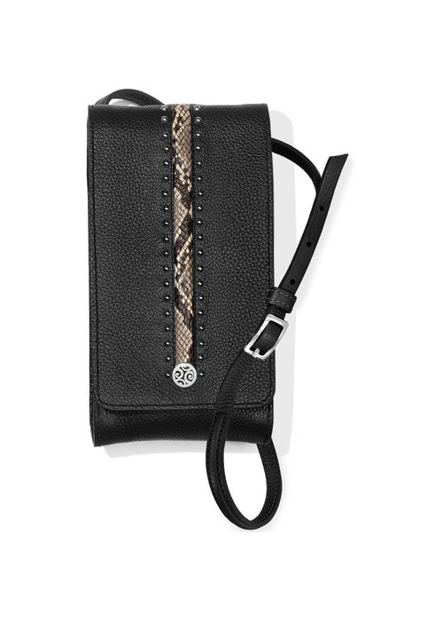 Brighton Pretty Tough Phone Organizer, Black-Snake Print
