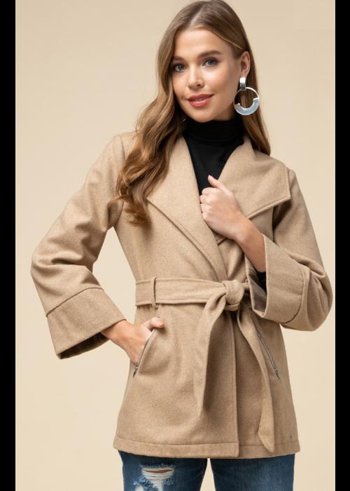 Camel Belted Jacket