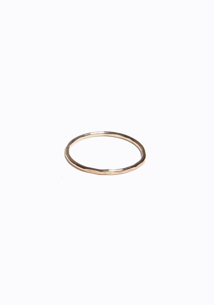 Thin Hammered Stacking Ring
