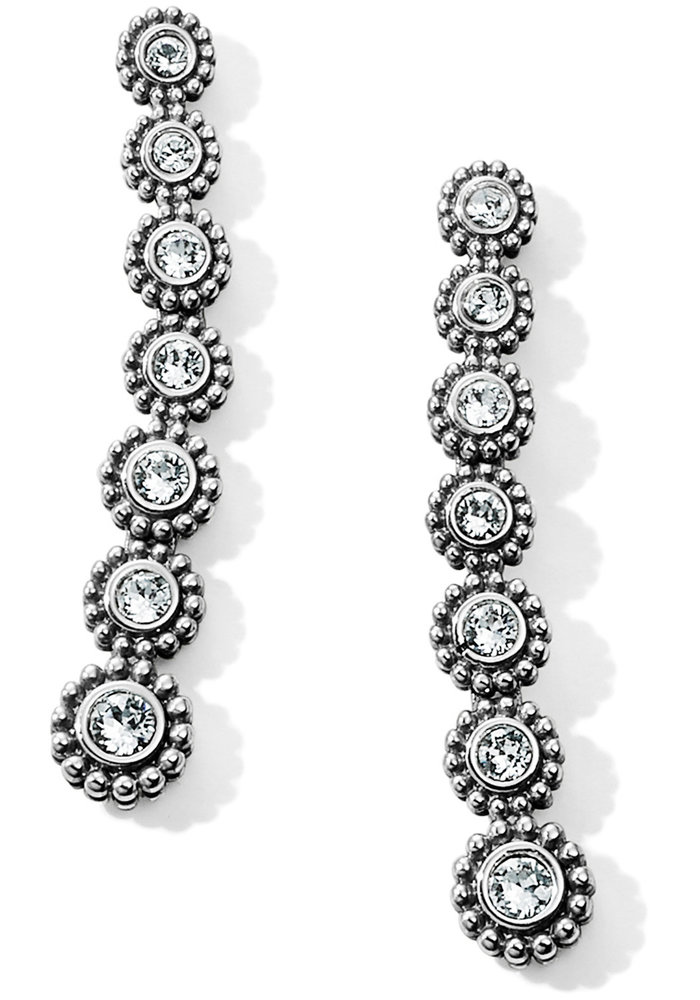 Twinkle Splendor Long Post Drop Earrings