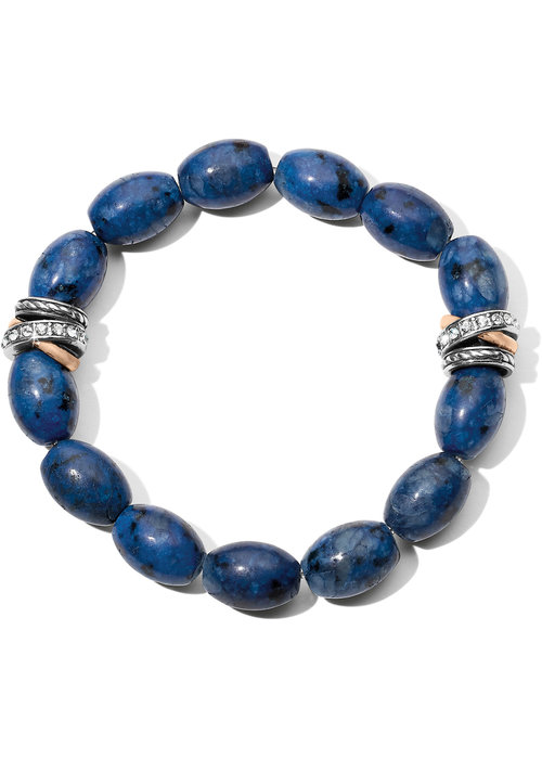 Brighton Neptune's Rings Dark Blue Kiwi Lapis Stretch Bracelet