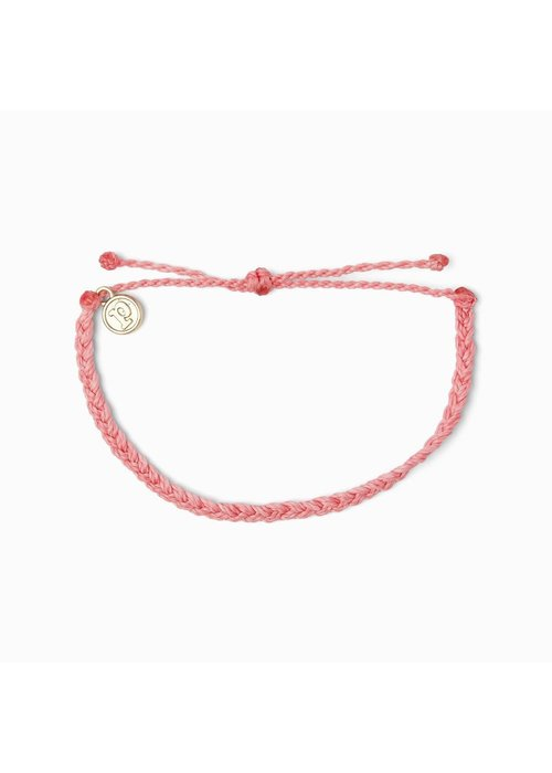 Pura Vida Mini Braided Solid Bracelet Petal Pink