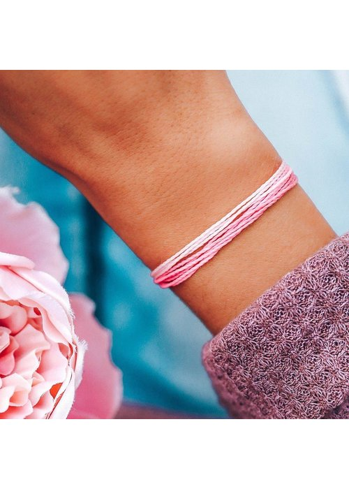Pura Vida Boarding 4 Breast Cancer Charity Bracelet