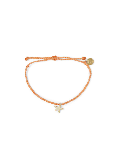 Pura Vida Enamel Starfish Charm Braided Bracelet