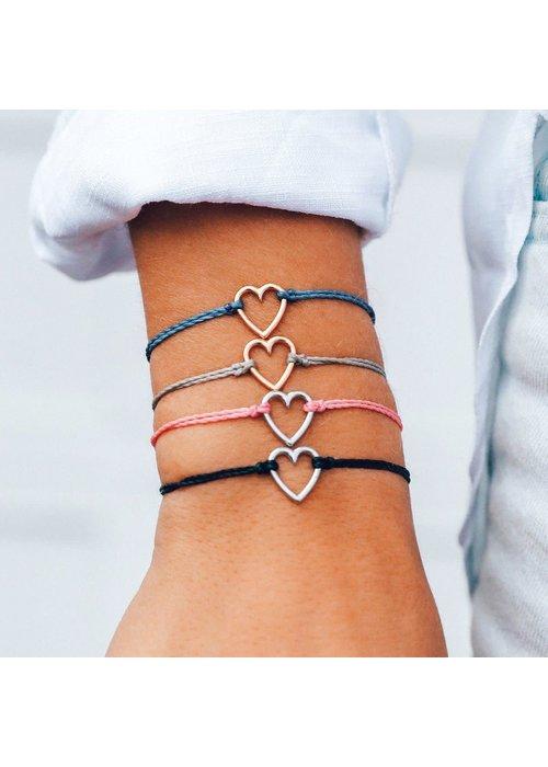 Pura Vida Rose Gold Open Heart Braided Bracelet