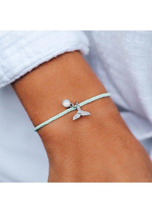 Pura Vida Mermaid Fin Silver Charm Braided Bracelet Winterfresh