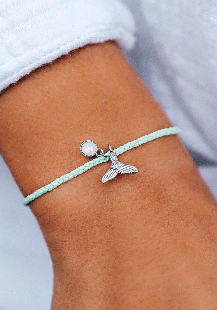 Mermaid Fin Silver Charm Braided Bracelet Winterfresh