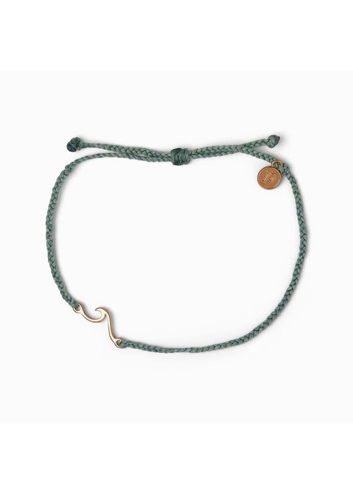 Pura Vida Rose Gold Shoreline Anklet Smoke Blue