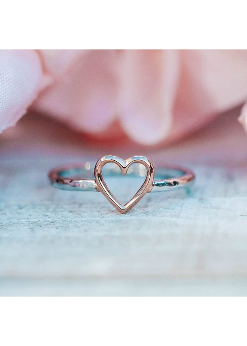 Pura Vida Open Heart Ring