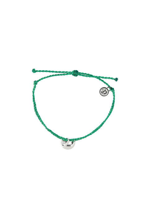 Pura Vida Sloth Charm Braided Bracelet Dark Green