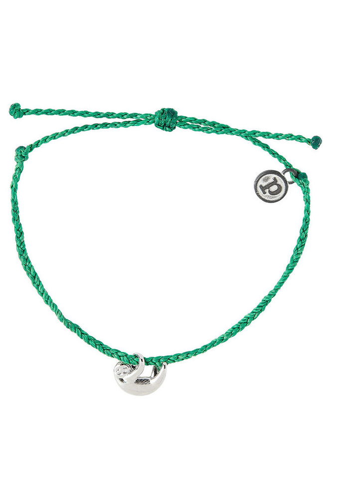 Save the Sloths! Charm Braided Bracelet Dark Green
