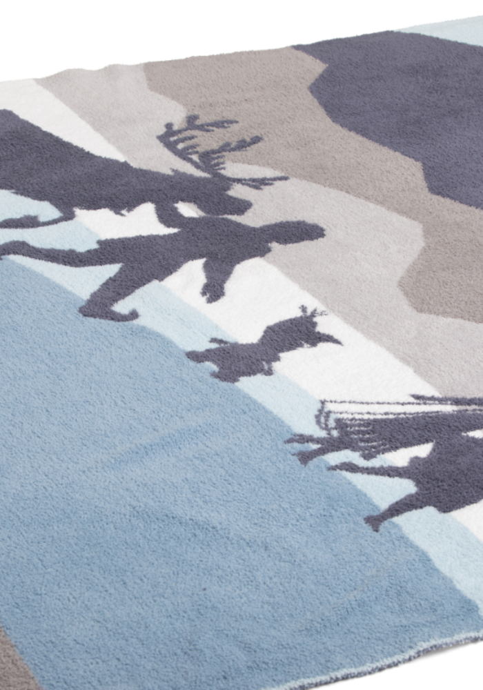 CozyChic Frozen Disney Throw Nordic Blue