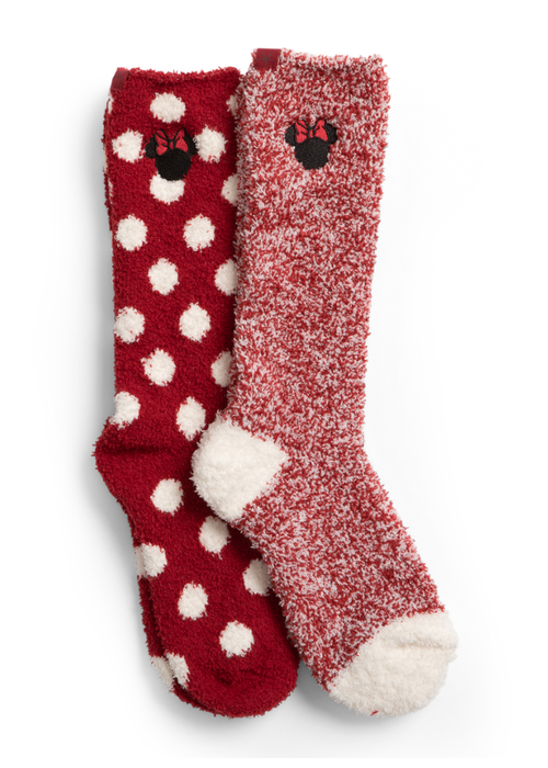Barefoot Dreams CozyChic Classic Disney Women Minnie Mouse Sock Set