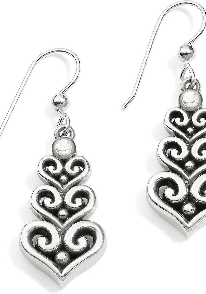 Alcazar Heart Trio French Wire Earrings