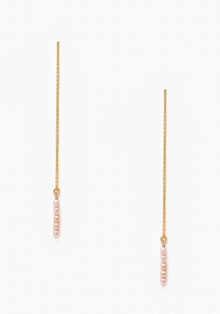 Pearl Dewdrop Threader Earring