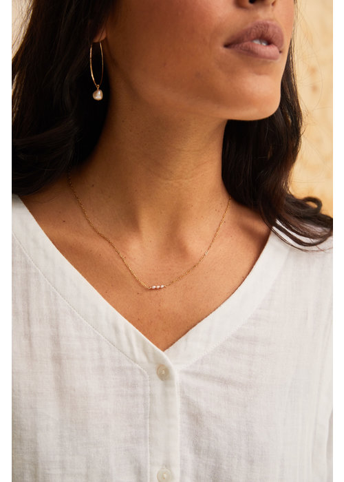 ABLE Blush Pearl Station Necklace