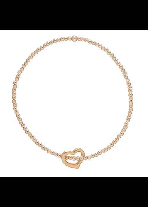 Enewton Classic Love Charm Gold Bead Bracelet