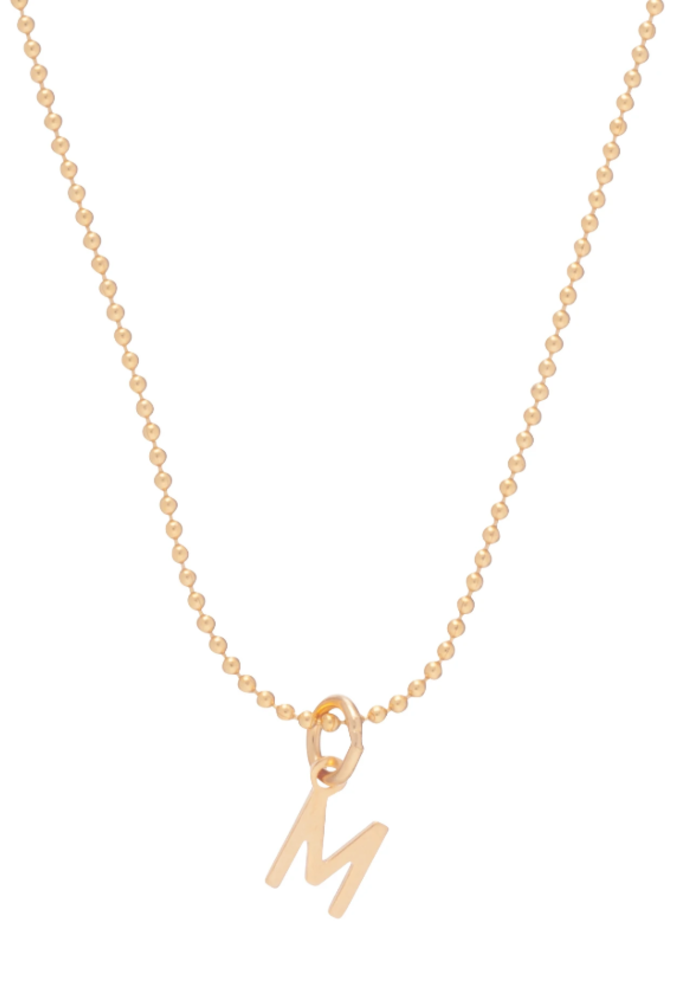 Gold Respect Initial Gold Charm Necklace