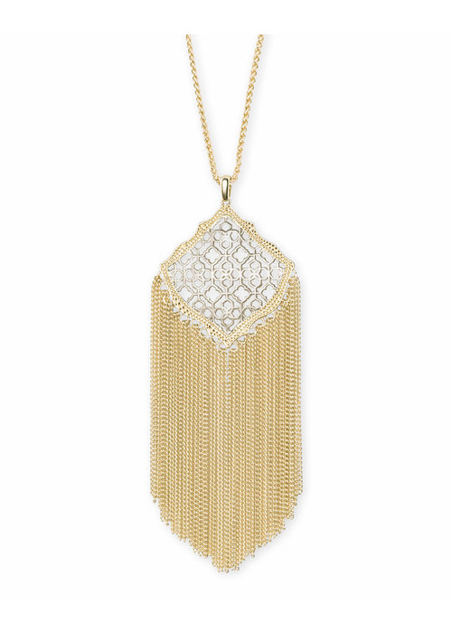 Kendra Scott Kingston Necklace Gold Metal
