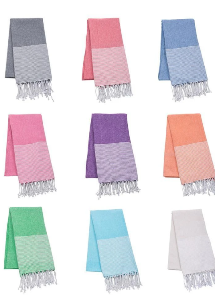 Stripe Fringe Beach Towel