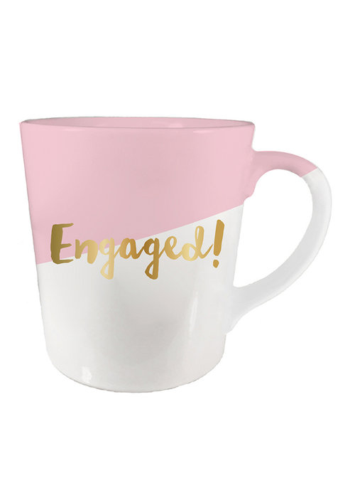 Engaged Gold Script Mug