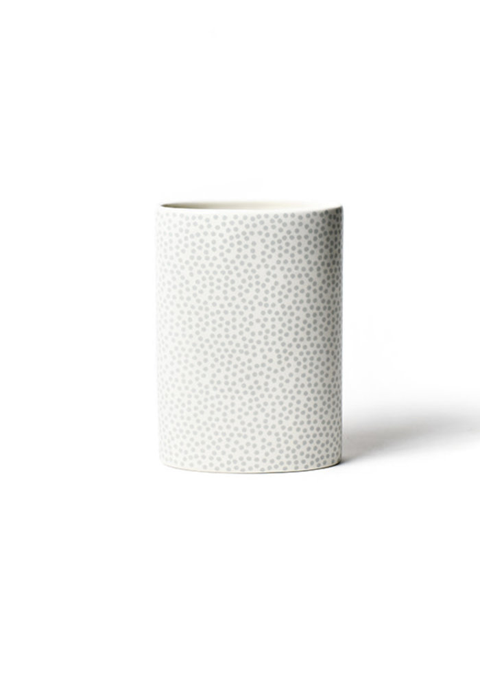 Stone Small Dot Mini Oval Vase