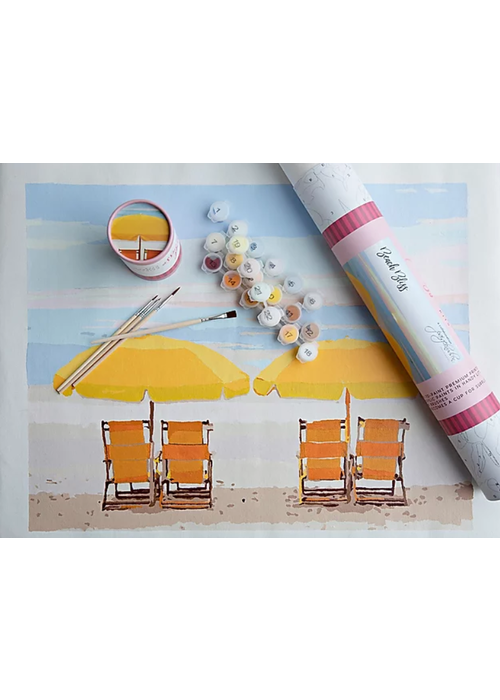 Pink Picasso Beach Bliss Paint By Numbers Kit