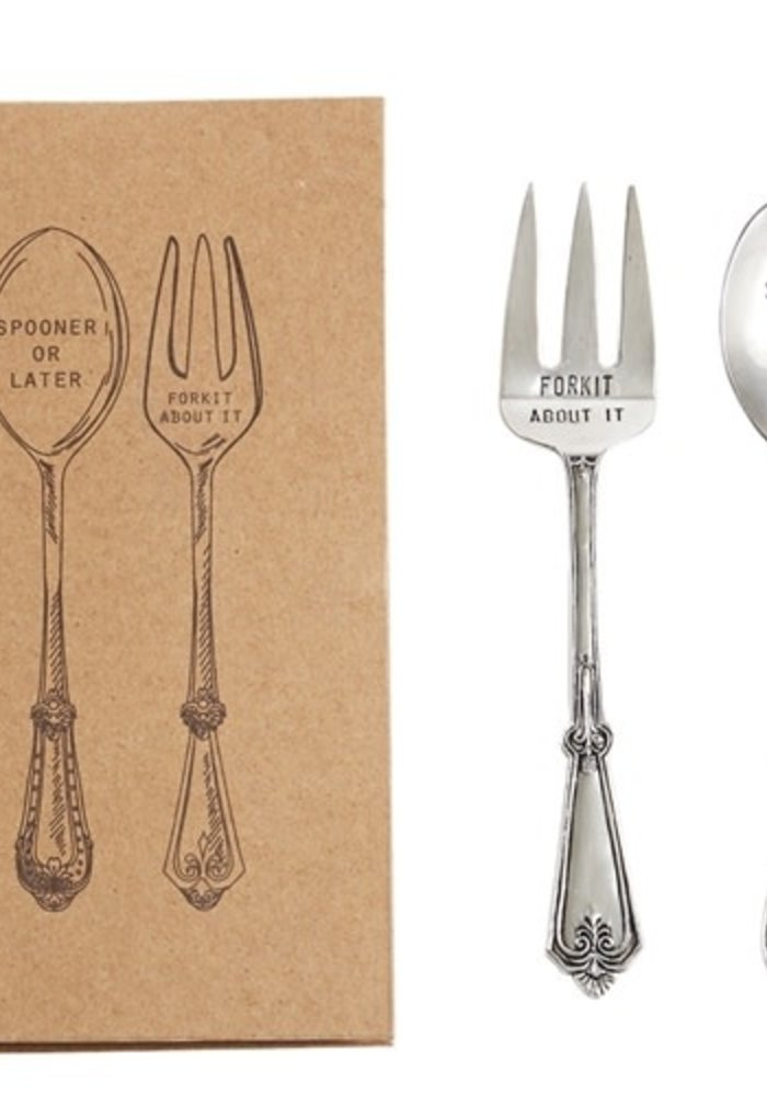 Boxed Stamped Serving Utensil Set