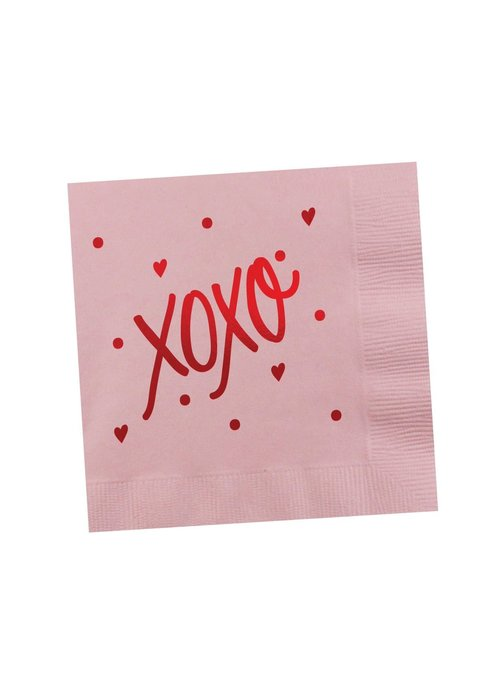 """XOXO"" Metallic Foil Napkins"