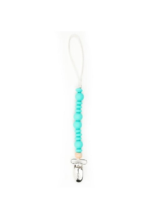 Bella Tunno Turquoise Wonder Pacifier Clip