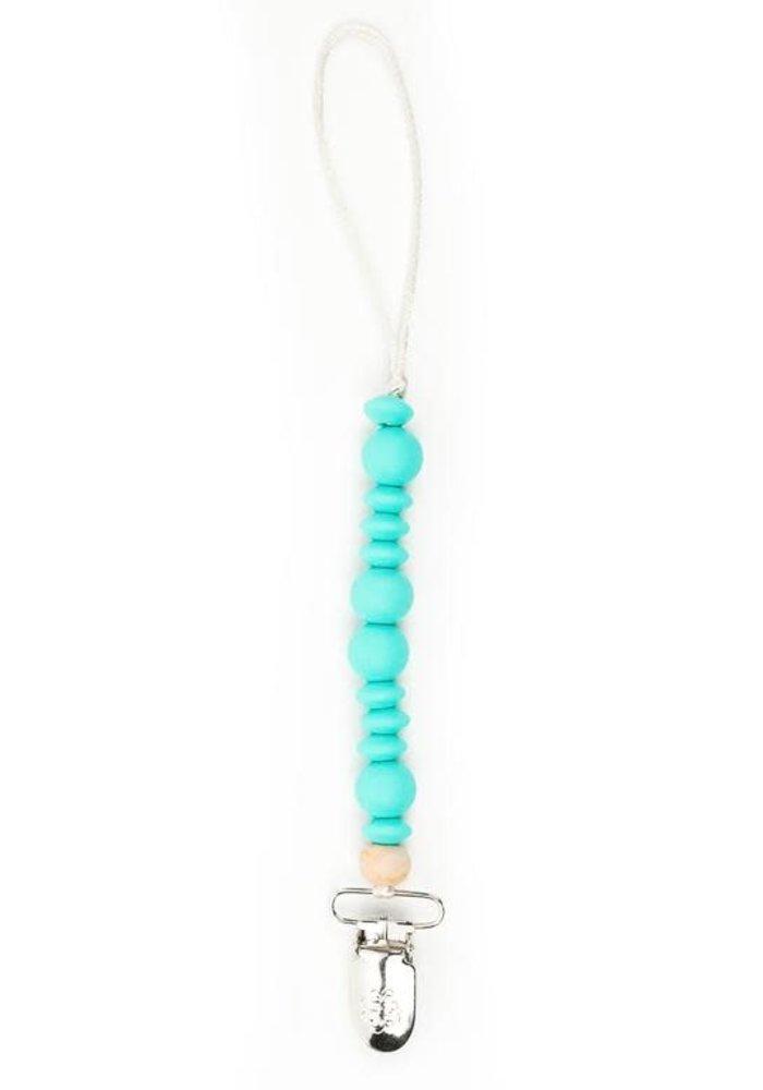 Turquoise Wonder Pacifier Clip