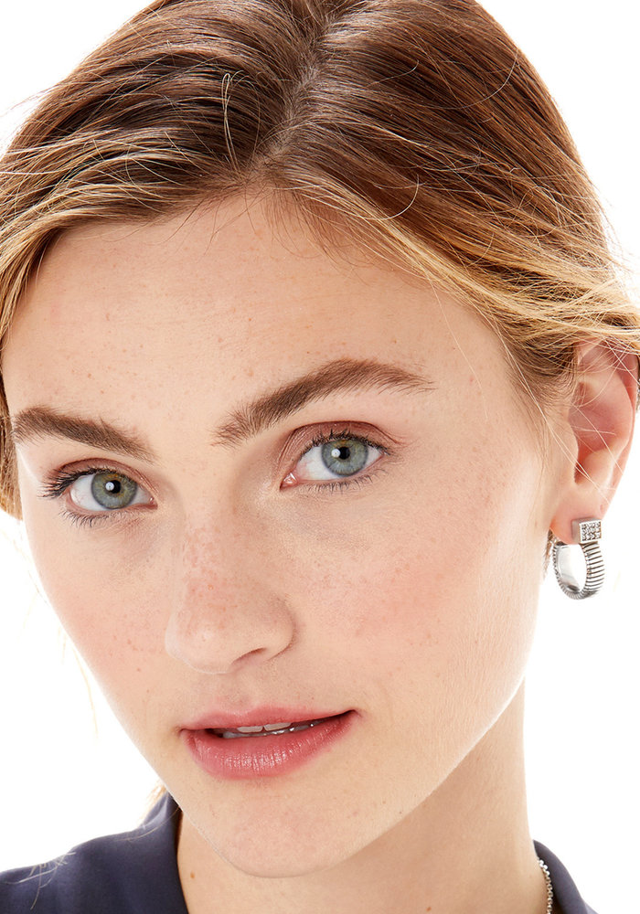 Meridian Zenith Tubogas Hoop Earrings