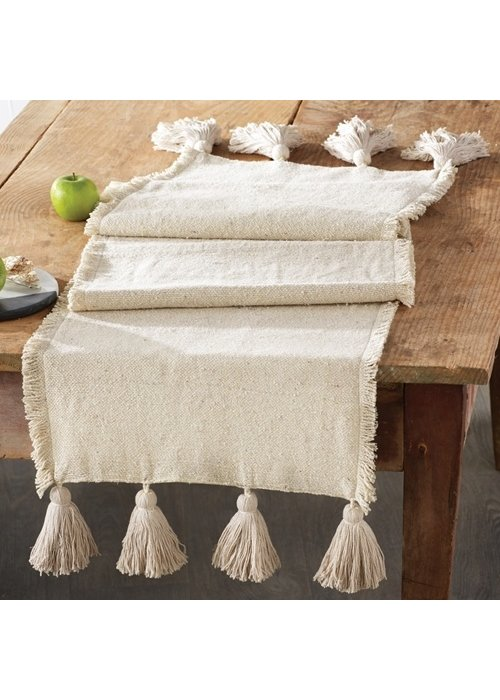 Mudpie Ponchaa Tassel Table Runner