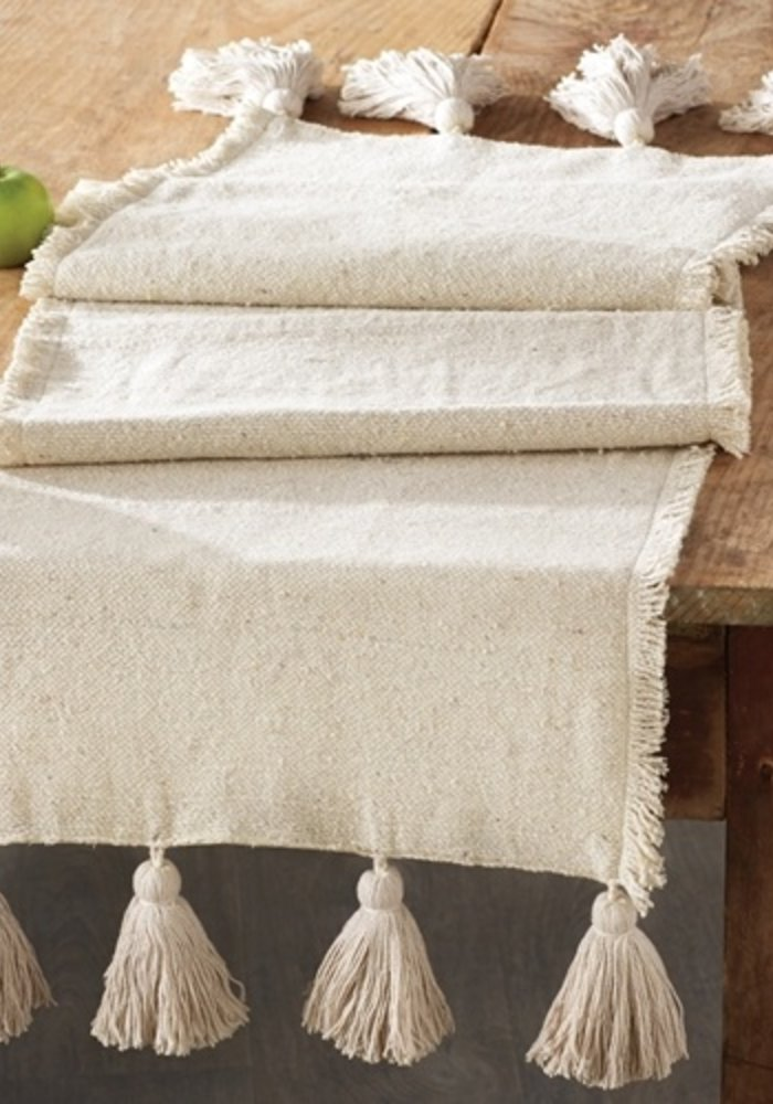 Ponchaa Tassel Table Runner