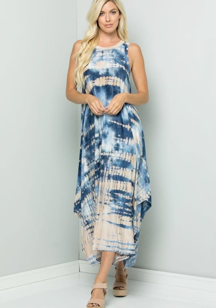 Tie-Dyed Bamboo Jersey Dress