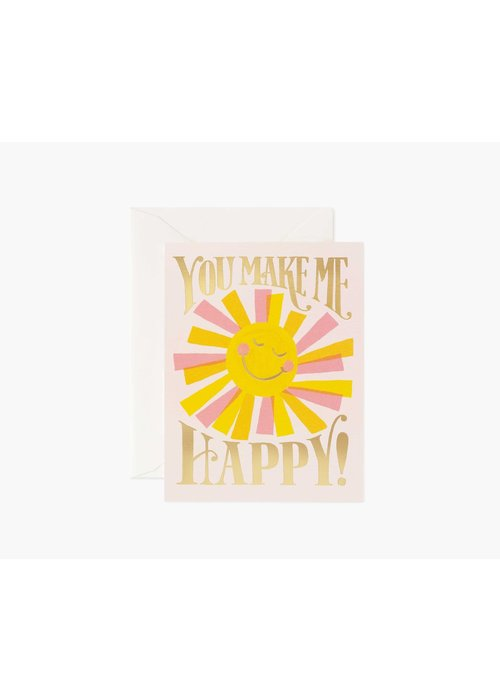 "Rifle Paper ""You Make Me Happy"" Gold Foil Card"