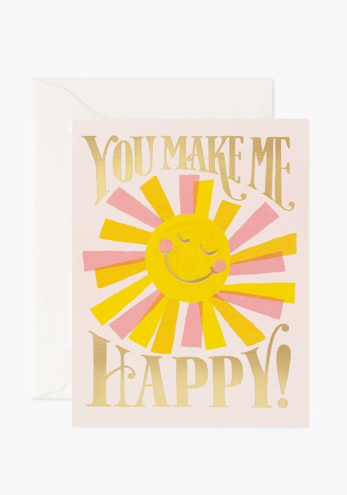 """You Make Me Happy"" Gold Foil Card"