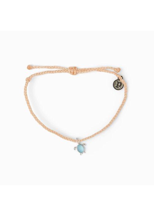 Pura Vida Save the Turtles! Charity Charm Braided Bracelet Blush