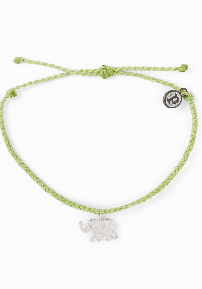 Save the Elephants! Charity Charm Braided Bracelet Doublemint