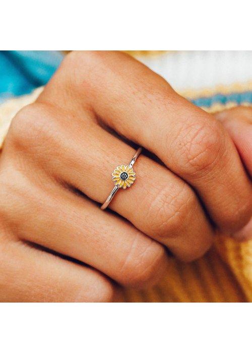 Pura Vida Enamel Sunflower Ring
