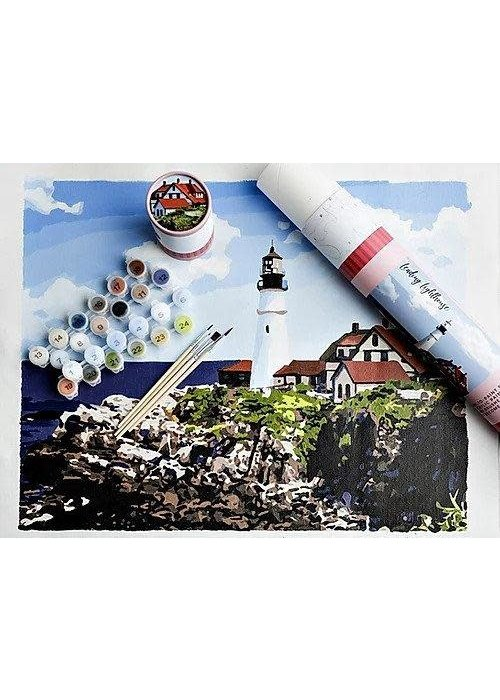 Pink Picasso Leading Lighthouse Paint By Numbers Kit